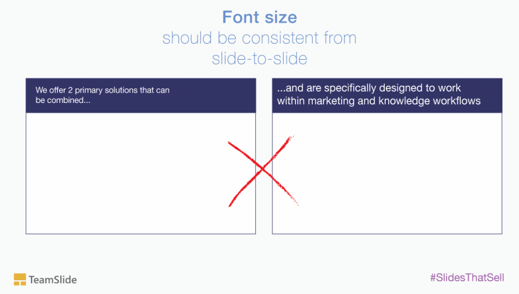 Powerpoint font size