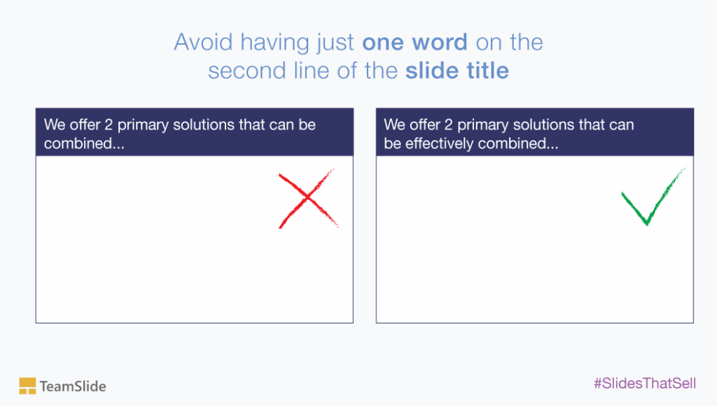 PowerPoint title hanging words