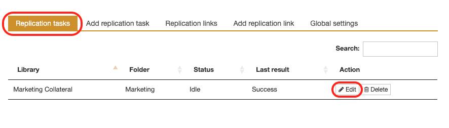 edit replication task