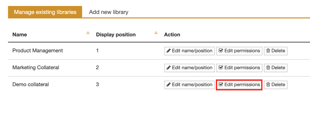 edit PowerPoint library access permissions in TeamSlide