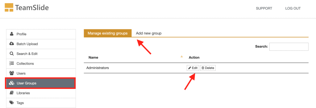 Set user groups for easy access control to your PowerPoint slides