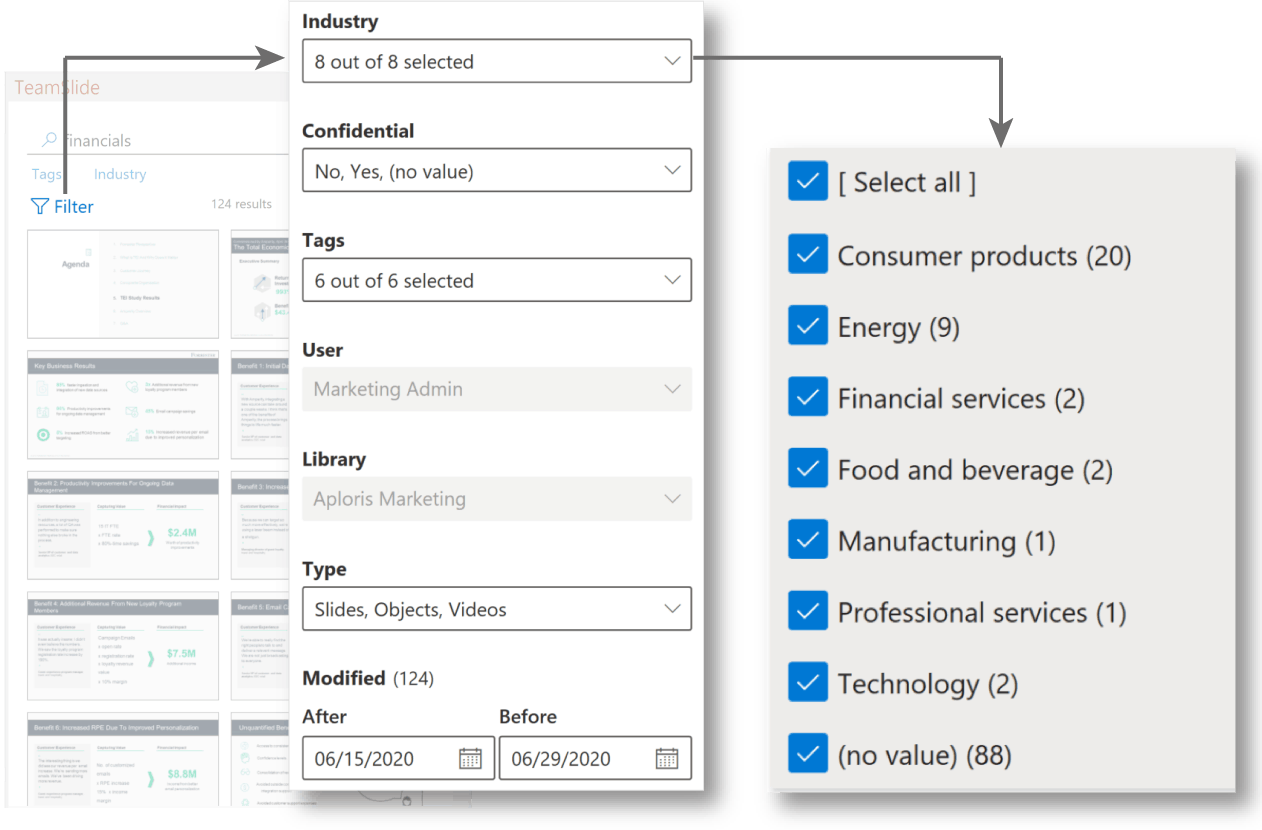 Import metadata from SharePoint or other content system to use with your slide manager
