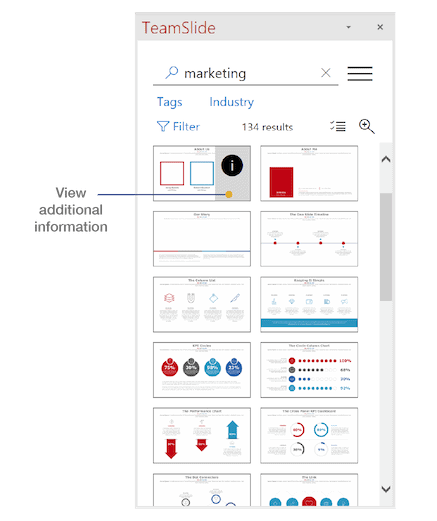 View additional details in PowerPoint with TeamSlide