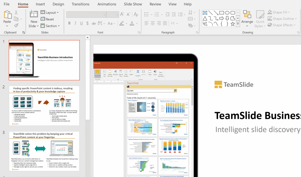Select a slide in PowerPoint