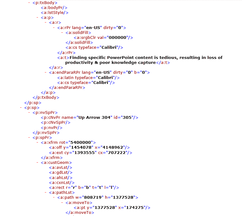 XML in PowerPoint