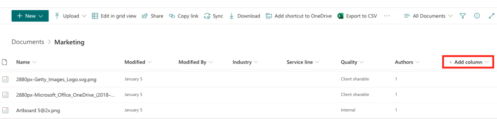 create a library column in SharePoint